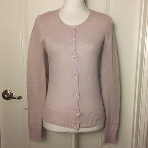J. Crew Lilac Jewel Button Up Cardigan Size S